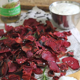 Rosemary Sea Salt And Vinegar Beet Chips