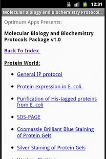 Mol Biol & Biochem Protocols- screenshot thumbnail