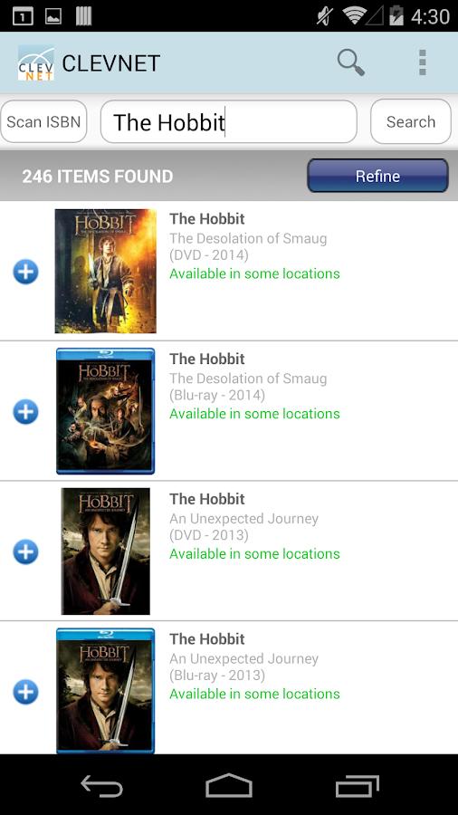 CLEVNET Libraries- screenshot
