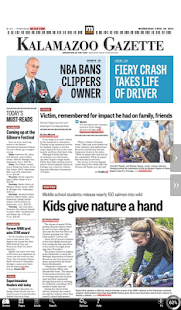 Kalamazoo Gazette- screenshot thumbnail