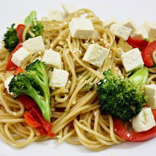 Teriyaki Stir-fry With Noodles And Tofu.