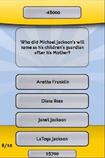 Michael Jackson Trivia Quiz