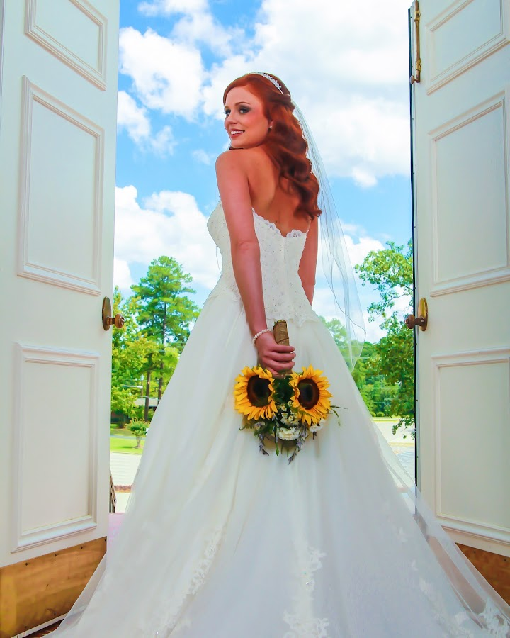 Bride by Mitch Lassiter - Wedding Bride ( vass, blue sky, wedding, marriage, bride )