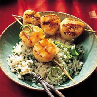 Grilled Sweet-and-Sour Scallops.