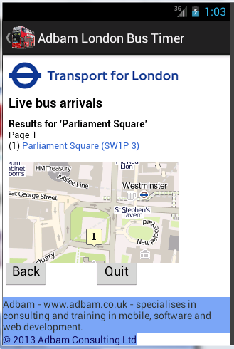 London Bus Timer - Free - screenshot