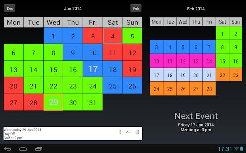 Shift Work Calendar- screenshot thumbnail
