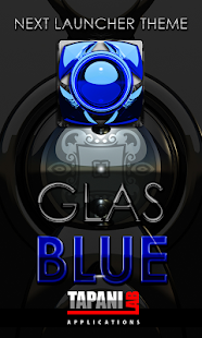 Next Launcher Theme glas blue- screenshot thumbnail