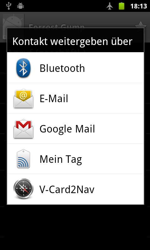 V-Card2Nav- screenshot