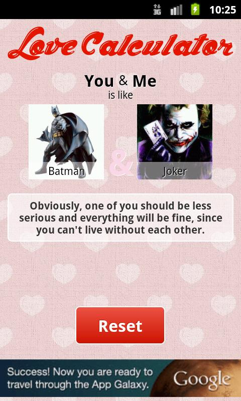 Fun Love Calculator (Free) - screenshot