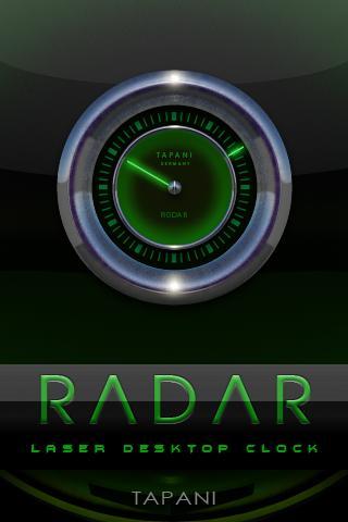 Laser Clock Widget RADAR