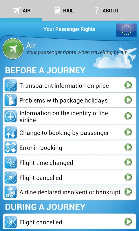 Your Passenger Rights - screenshot