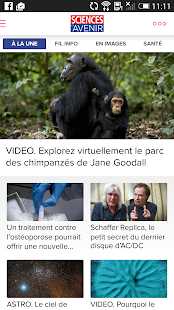 Sciences et Avenir- screenshot thumbnail