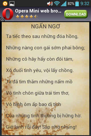 Download Tho tinh Xuan Dieu Google Play softwares