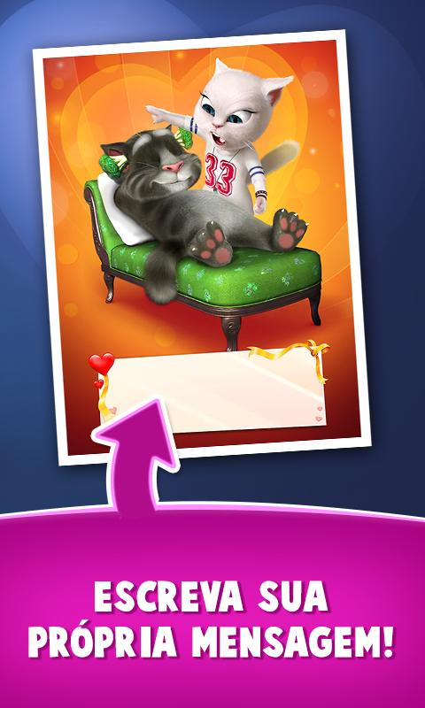 Cartas de amor do Talking Tom - screenshot