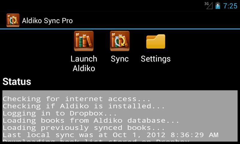 Aldiko Sync Pro Unlocker - screenshot