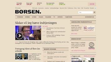 Screenshot of Børsen mobil
