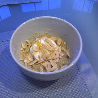 Almond Banana Couscous (ABC) Breakfast.