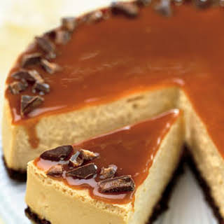 Toffee Crunch Caramel Cheesecake.