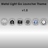 Metal Light Go launcher theme