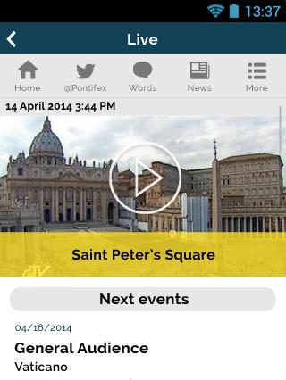 The Pope App - Pope Francis - screenshot
