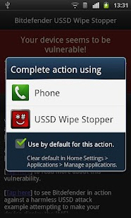 Bitdefender USSD Wipe Stopper- screenshot thumbnail