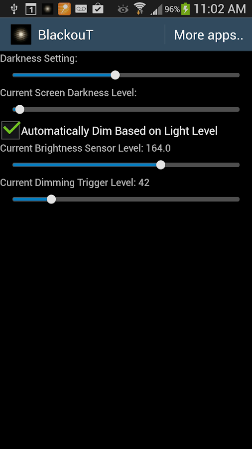 BlackouT Screen Dimmer- screenshot