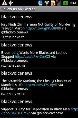 Black Voice News - screenshot