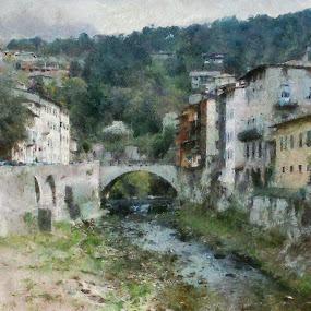 Revoreto Italy by Scott Bennett - Painting All Painting ( Redtal Hawk, Redtail Hawk contest )