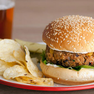 Spicy Veggie Bean Burgers.