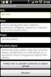 osmrtnica.net- screenshot thumbnail
