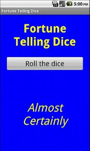 Fortune telling dice- screenshot thumbnail