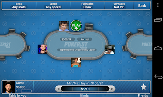 Screenshot of Pokerist for Tango