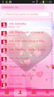 Screenshot of GO Contacts Fabulous Hearts