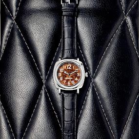 Breed wood faced watch by Joe Eddy - Artistic Objects Jewelry ( wood, watch, brown, steel, leather, black )
