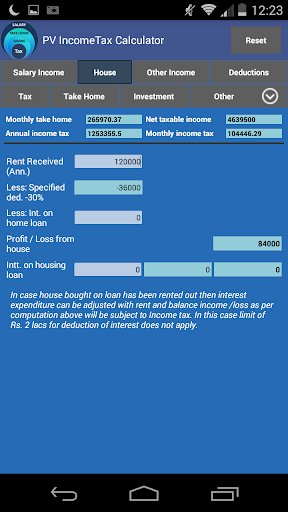 PV Income Tax Calculator India