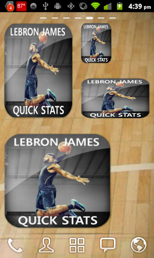 Lebron James Basketball Widget