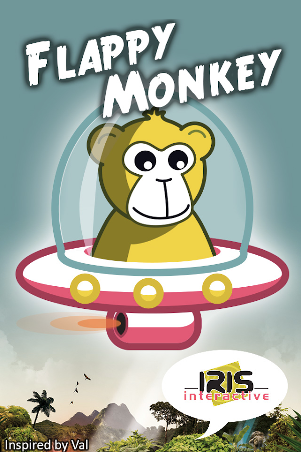 Flappy Monkey - Flying Saucer- screenshot