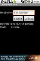 Screenshot of Caller Details India