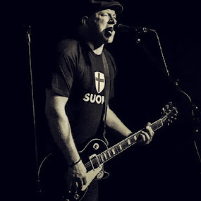 Darius from the Swingin Utters by Jim Weil - Black & White Portraits & People ( concert, punk, rock, fatwreck )