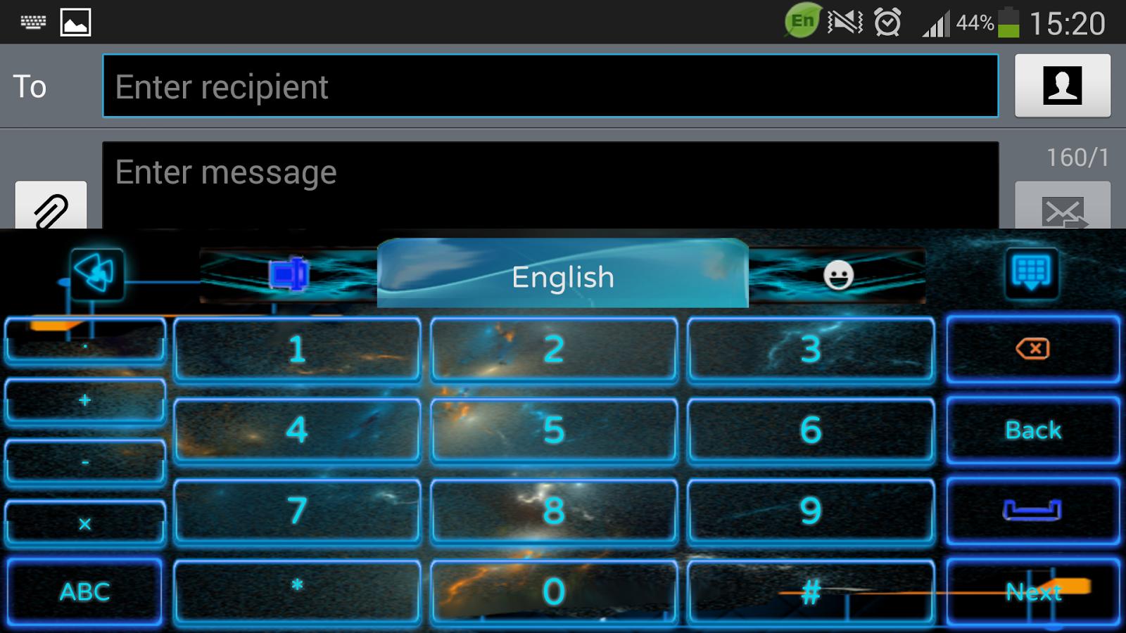 Google themes zvezda - Electric Keyboard Theme Screenshot