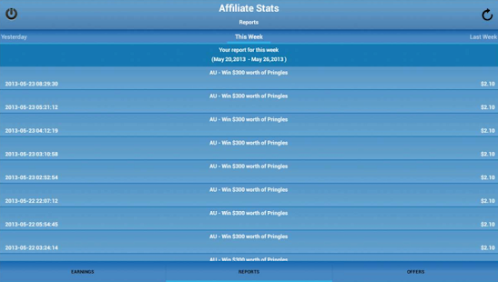 Affiliate Stats - screenshot thumbnail
