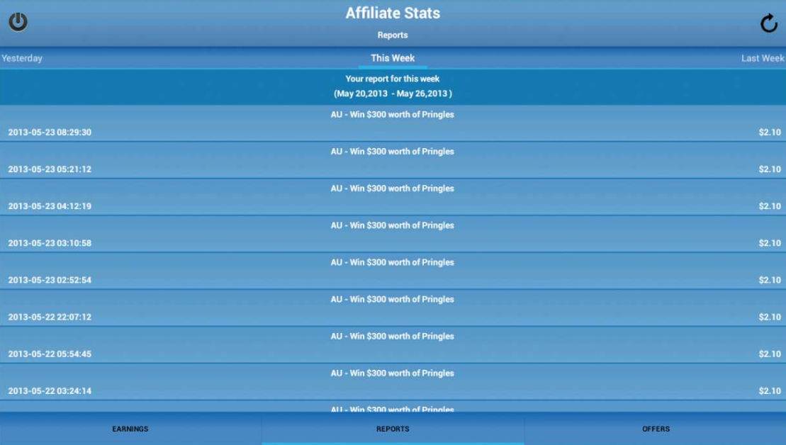 Affiliate Stats - screenshot