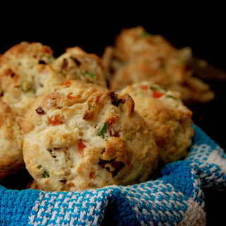 Tomato, Chinese Sausage and Green Onions Scones