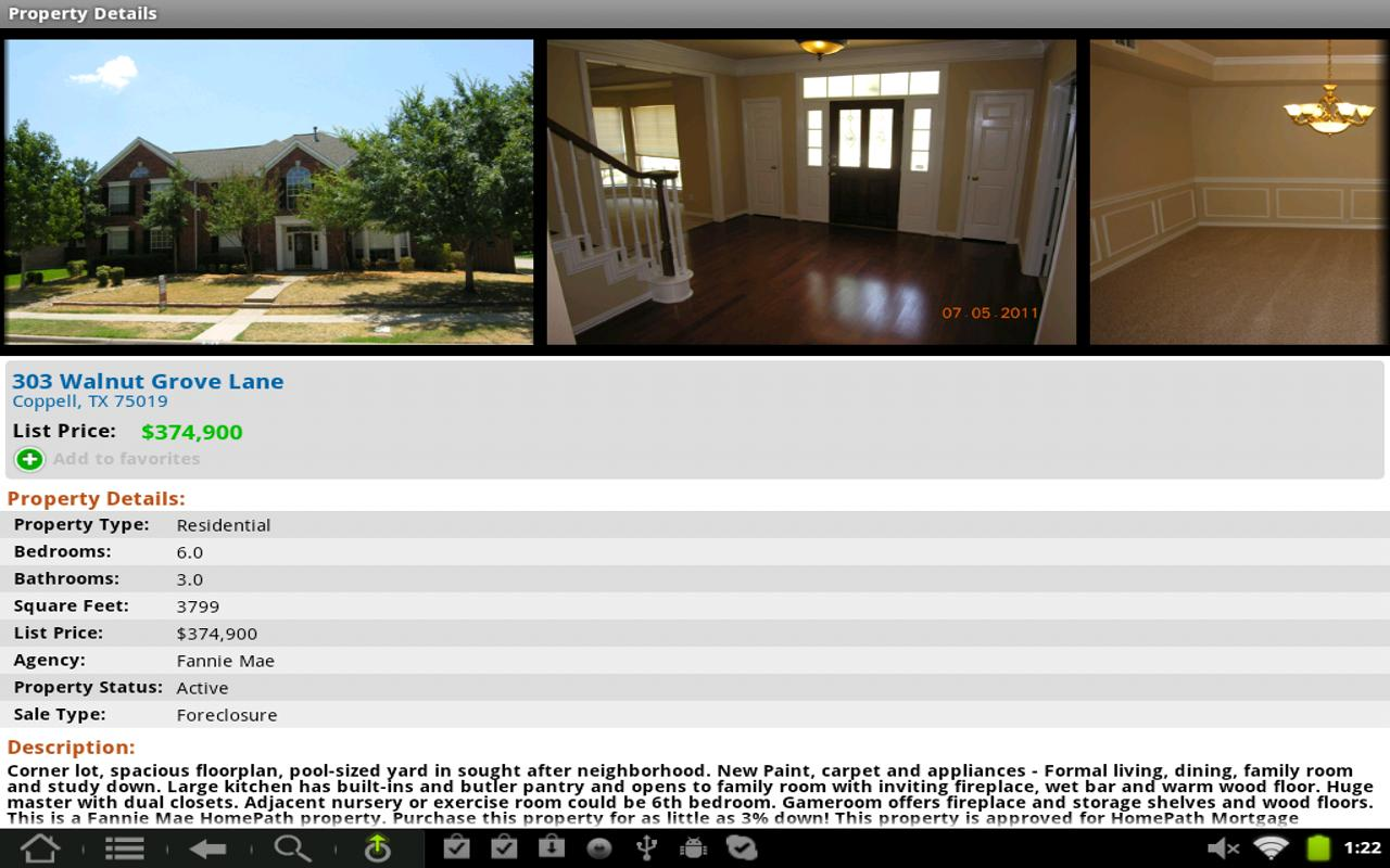 USHUD.com Property Search- screenshot