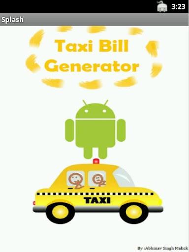 Taxi Bill Generator