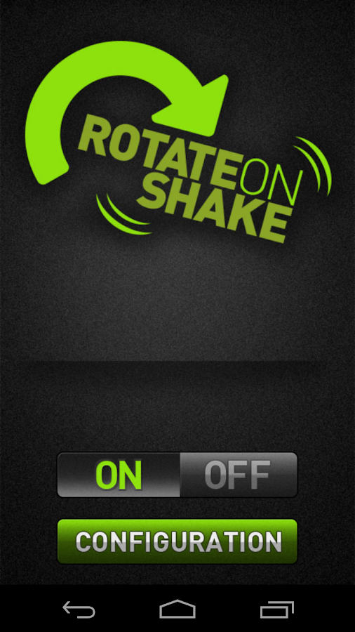 Rotate on Shake - screenshot