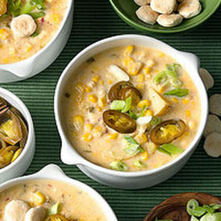 Corn Chowder with Jalapeno Peppers.