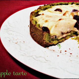 Matcha Tea Apple Tart.