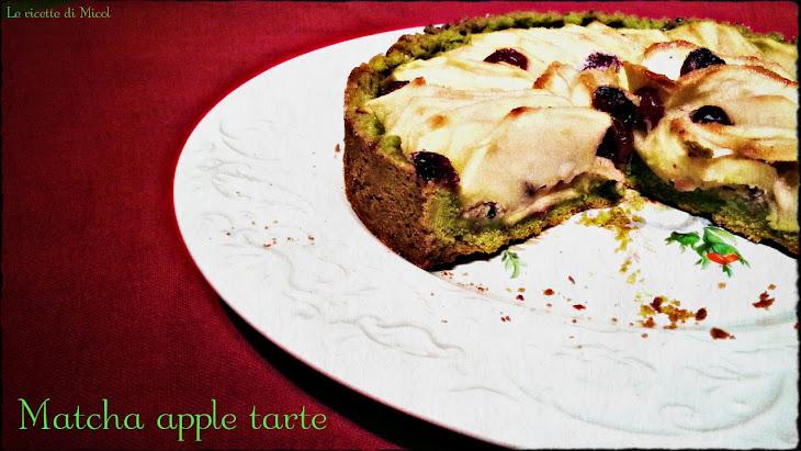 Matcha Tea Apple Tart