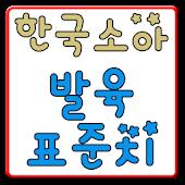 한국소아 발육 표준치(육아,아기,소아)